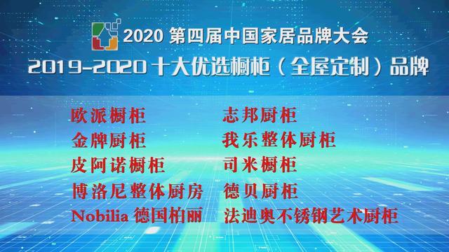 图:2019-2020十大优选橱柜(全屋定制品牌)